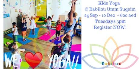 Move On Kids Yoga & Mindfulness @ Babilou Umm Suqeim  OPEN CLASS tickets