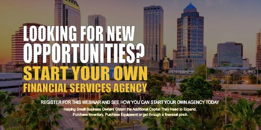 Start your Own Financial Services Agency Tampa FL