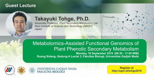 [Guest Lecture] Metabolomics-Assisted Functional Genomics of  Plants