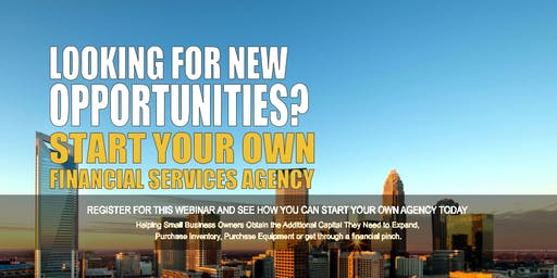 Start your Own Financial Services Agency Charlotte NC