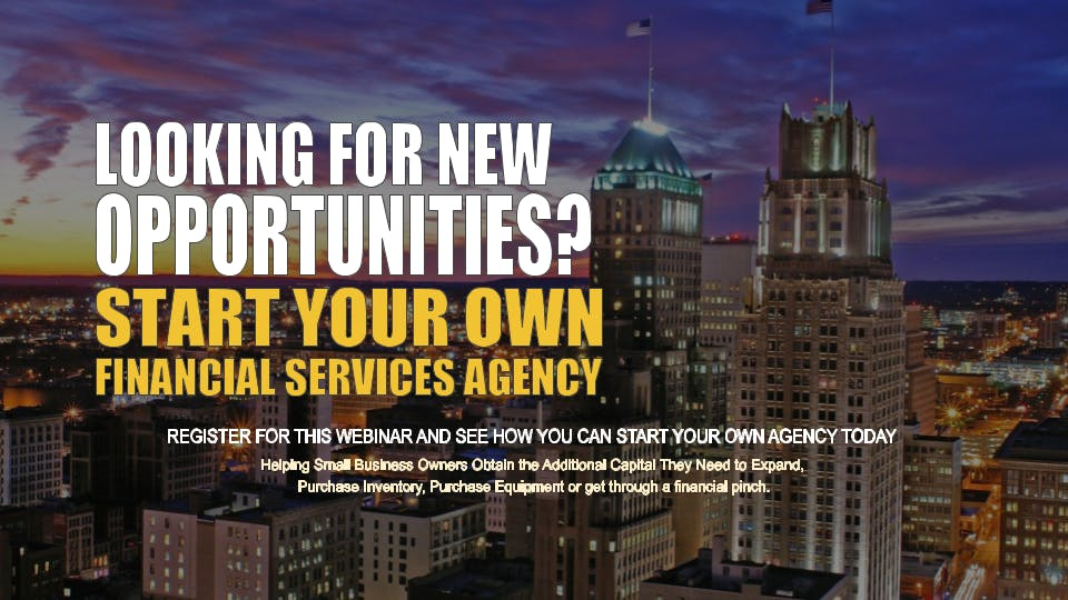 Start your Own Financial Services Agency Newark NJ