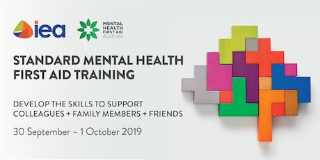 IEA Workshop - Standard Mental Health First Aid tickets