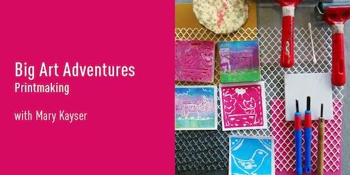 Big Art Adventures   Printmaking (Gungahlin)