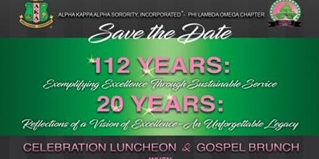 AKA 112th Founder's Day/Phi Lambda Omega Chapter Chartering Anniversary tickets