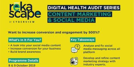 Digital Health Audit: Content Marketing & Social Media tickets