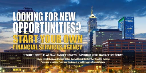 Start your Own Financial Services Agency Indianapolis IN