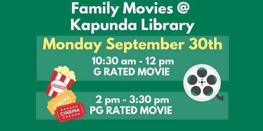 School Holidays - Movies @ Kapunda Library