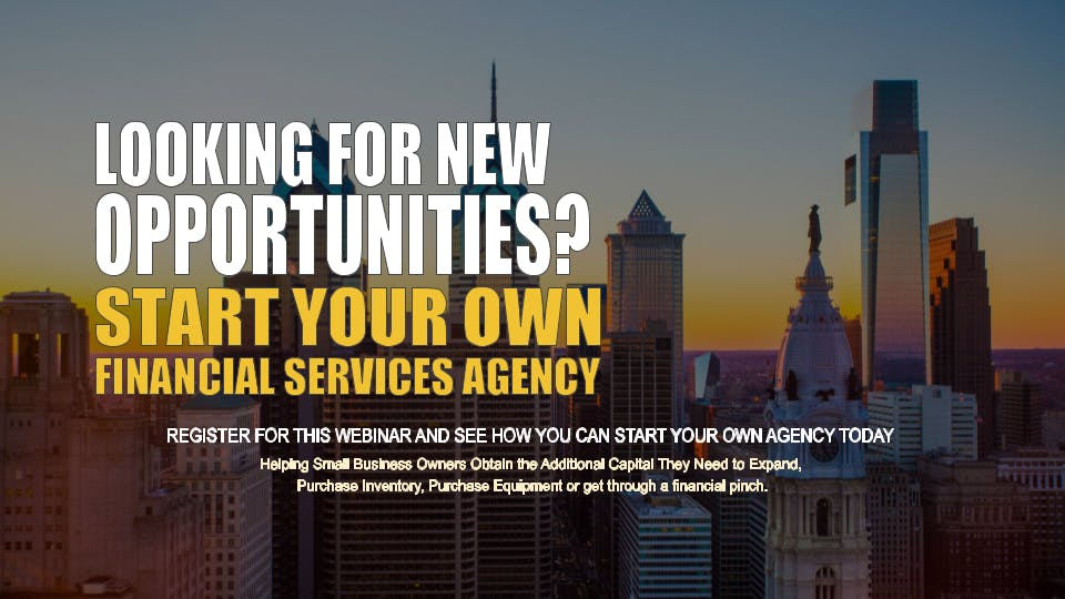 Start your Own Financial Services Agency Philadelphia PA