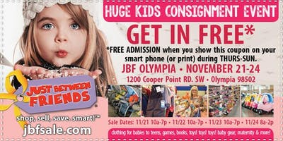 JBF Olympia Winter/Holiday General Admission (FREE)