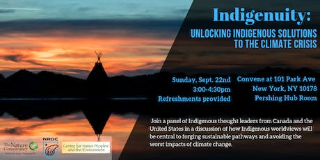 Indigenuity: Unlocking Indigenous Solutions to the Climate Crisis tickets