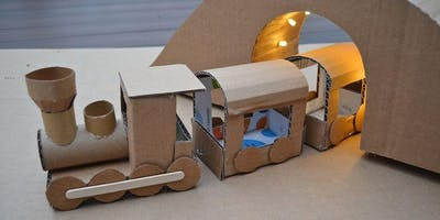 All aboard the train and bridge building craft workshop