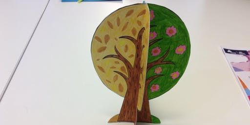 Sans Souci Library - School Holiday Activity - Four Seasons 3D Tree