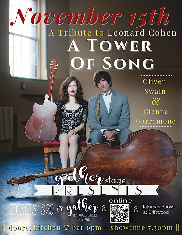 A TOWER OF SONG Oliver Swain and Glenna Garramone LEONARD COHEN Tribute image