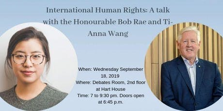 International Human Rights: A talk with the Honourable Bob Rae tickets