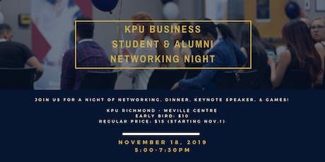 KPU Business Student & Alumni Networking Night tickets