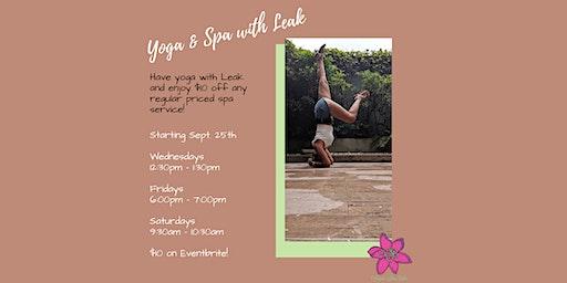 Yoga & Spa with Leak!