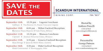 Swiss Growth Forum Cocktail Reception with Scandium Mining in Oslo