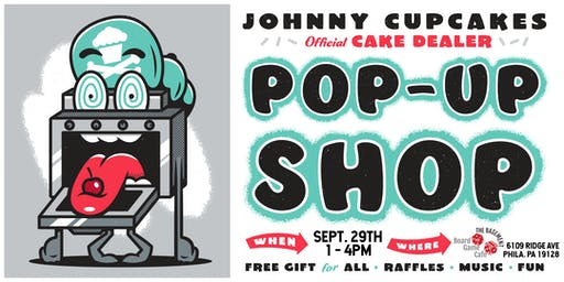 Johnny Cupcakes X The Basement Board Game Cafe