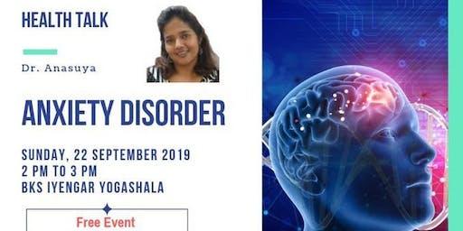 Health Talk: Anxiety Disorder