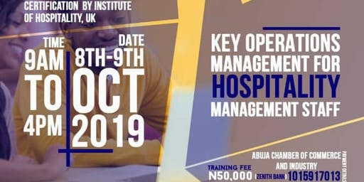Key Operations Management for Hospitality Management Staff