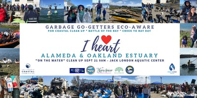 I Heart Alameda & Oakland Estuary On-the-Water Cleanup! Register HERE!