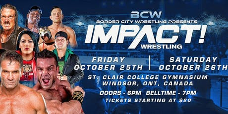 Impact Wrestling October Television Tapings tickets