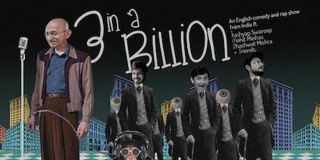 3 in a Billion! An English Standup & Rap Show - PRAGUE tickets