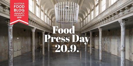 Austria Food Blog Award - Press DAY und Preisverleihung  tickets