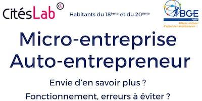 Atelier micro-entreprise - auto-entrepreneur : comment ça fonctionne ?