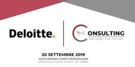Consulting: advising the future biglietti