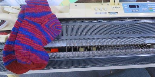 Machine Knit Sock Class, Hands-on
