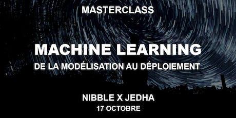 MASTERCLASS - Machine Learning : de la modélisation au déploiement billets