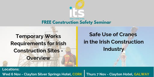 FREE Construction Safety Seminar - Cork 6 Nov 2019