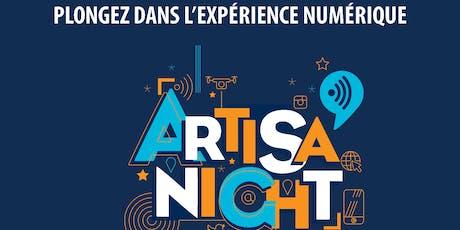 ARTISA'NIGHT EDITION 2019: RÉSERVEZ LA SOIRÉE DU 28 NOVEMBRE ! billets