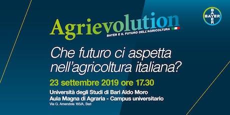 Agrievolution: che futuro ci aspetta nell'agricoltura italiana? biglietti