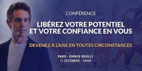 Paris 11/12/2019 - Conférence Libérez votre potentiel et votre confiance en vous - Espace Reuilly billets