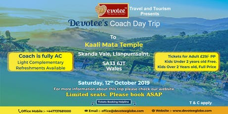 Coach Day Trip To 'Kaali Mata Temple' Wales tickets