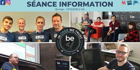 Séance Information - BeCode Liège billets