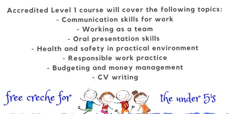 Level 1 Employability course - Thornton Heath Library, Croydon tickets