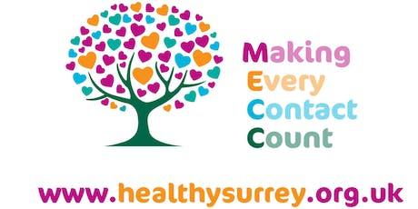 Surrey Heartlands MECC 3 Hour workshop (KINGSTON, fixed) tickets