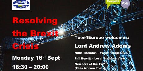 Lord Andrew Adonis - Resolving the Brexit Crisis tickets