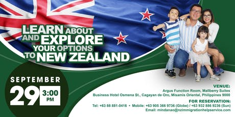 """""""LEARN ABOUT AND EXPLORE YOUR OPTIONS TO NEW ZEALAND"""" tickets"""