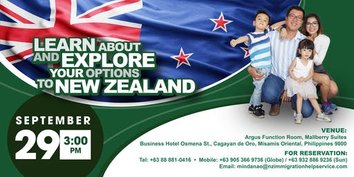 """""""LEARN ABOUT AND EXPLORE YOUR OPTIONS TO NEW ZEALAND"""""""