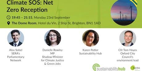 Climate SOS: net zero reception tickets