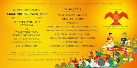 Onaghosham (Onam celebrations) 2019 by London Hindu Aikyavedi tickets