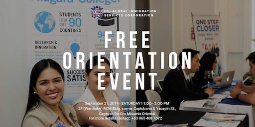 Free Orientation Event