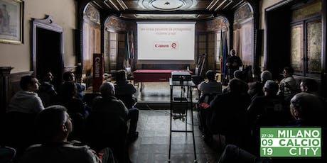 Workshop Junior Fotografia Sportiva di Canon Academy e MilanoCalcioCity biglietti