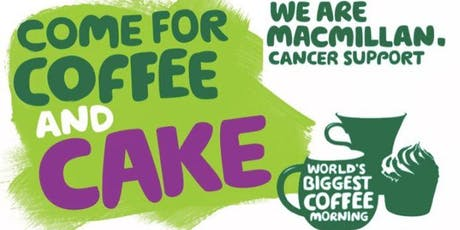 Macmillan Coffee Morning at Ashlea Financial Planning tickets