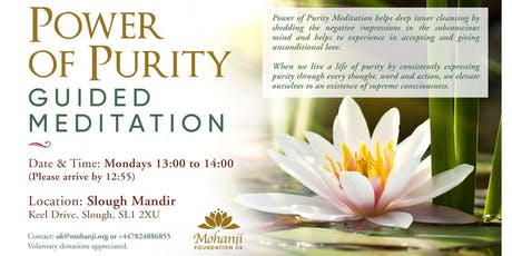 Power of Purity - Guided Meditation (Slough) tickets