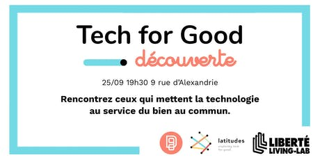 Data for Good x Latitudes | Découverte de la Tech for Good tickets